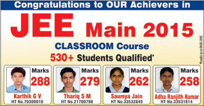 JEE 15 main results