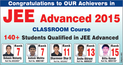 JEE Advanced 2015 Results