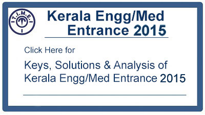 Kerala Engg & Medical Entrance 2015 key & Solution