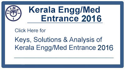 Key and Solution for Kerala Engg/Medical 2016
