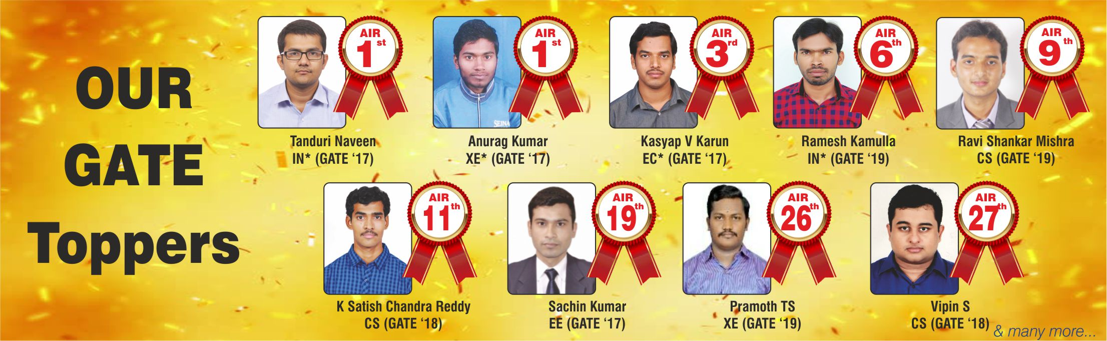 GATE2017 Toppers